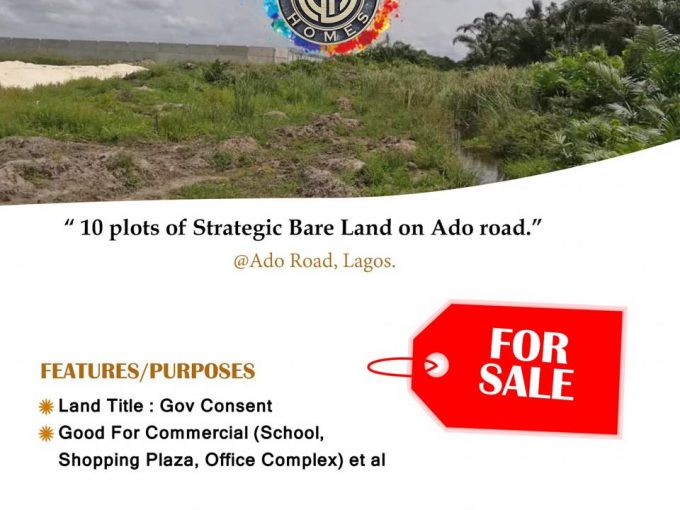 Strategic 10 Plots On Ado Road, Ajah