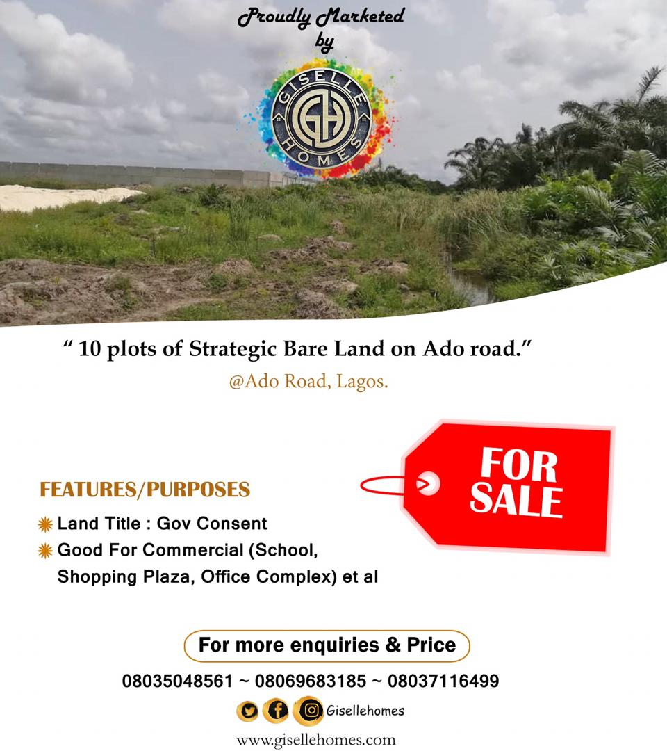 Strategic 10 Plots On Ado Road, Ajah