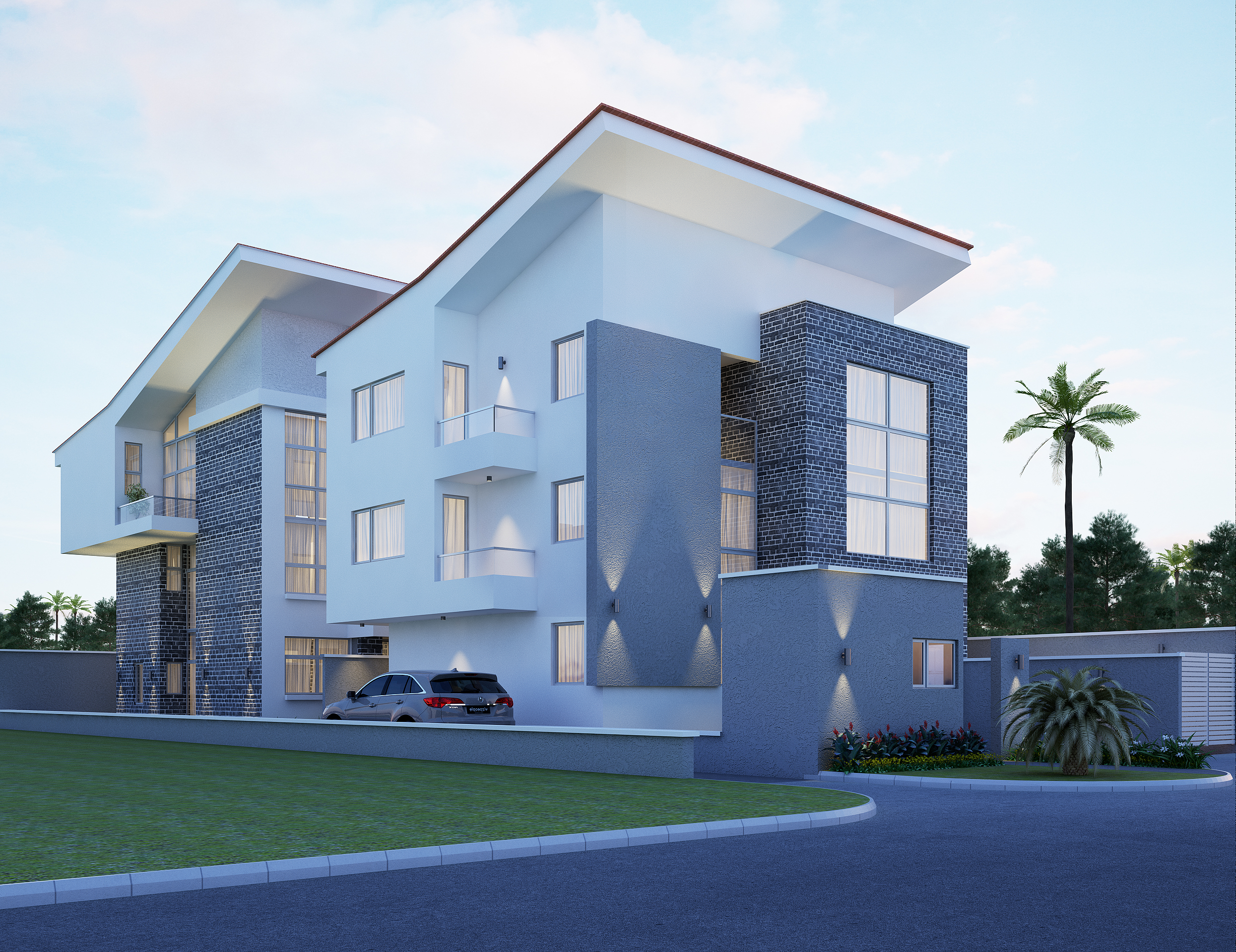 2 Units of 4 Bedroom Contemporary Built Semi Detached